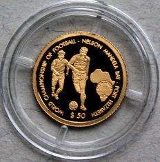 Namibia – 50 Dollars 2009 'Football World Cup 2010 in South Africa' – 1 g Gold