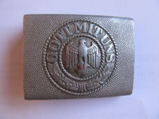 WH belt buckle - aluminium