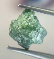 Top Irregular Opaque Green Blue Mix Colour African Rough Natural Diamond - 6.4 x 6.0 x 4.7 mm - 1.26 ct