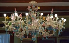 "Murano - Large 5-arm chandelier (20 lights) ""Rezzonico"" model"