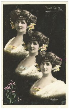 lot of 44 x postcards illustrator Reutlinger Paris 35 x surreal + 9 x actresses 1900s France
