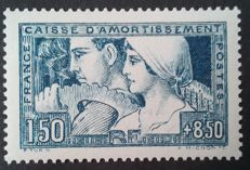 """France 1928 – """"Caisse d'amortissement"""", """"le Travail"""", type III, TURN signature, signed Pascal Scheller – Yvert No. 252e"""