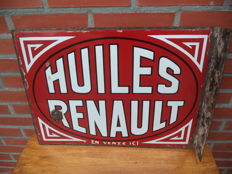 Renault Huiles - motor oil - 1937 - double-sided with wall support