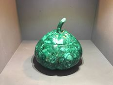 Green Malachite Pumpkin box - 14 x 9 cm - 1700 gm