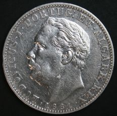 Portugal – 1 Rupia in Silver – Luís I – 1881 – Portuguese India – AG: 14.01 – Scarce in this Condition