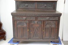 English oak sideboard, with rich carving - England - ca. 1910