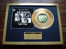 "The Beatles Let It Be 24ct gold plated 7"" record single disc"