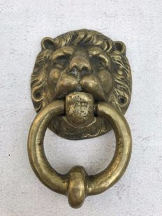 Heavy bronze door knocker - France - circa 1880