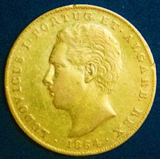 Portugal – 2,000 Réis in Gold – 1864 – Luís I – Lisbon