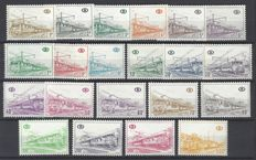 Belgium - Railway stamps OBP nos. TR378 through TR398 A Dull paper