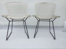 Harry Bertoia for Knoll - two original chairs with covers