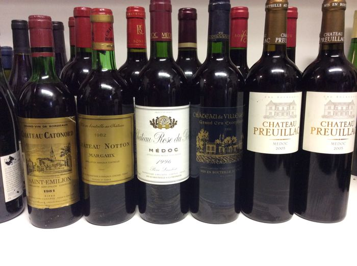 80s, 90s & 2000s Mixed Lot Bordeaux, France, 11 bottles 0,75l