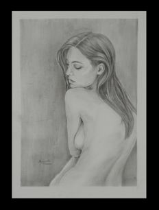 Original; Mednikova Evgenia - Nude Study Young Girl - 2017