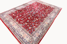 Semi-antique real Persian carpet Sarough Saruk rare item 3.64 x 2.67 top quality / condition