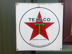 ' TEXACO ' Enamel Advertising Garage Sign