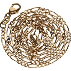 14 kt – Yellow gold, Figaro link necklace – Length: 46 cm