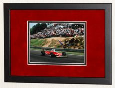 Jody Scheckter original signed Photo - Premium Framed + Certificate of Authenticity