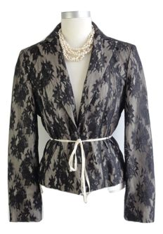 Marc Cain – tailored fit jacket with lace - new