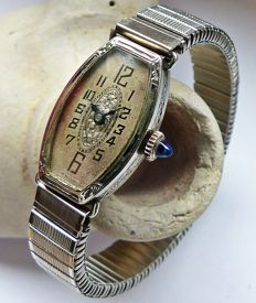 Antike ABRAWATCH Co. / Diehl  Art-Deco Tonneau -- women's watch from the 1920s / 1930s, very rare collector's item