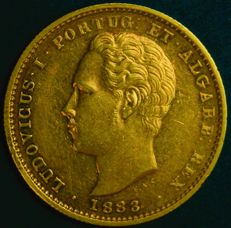 Portugal – 5,000 Réis in Gold – 1883 – Luís I – Lisbon – New