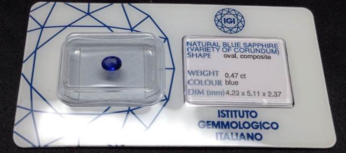Sapphire weighin 0.47 ct (no reserve)