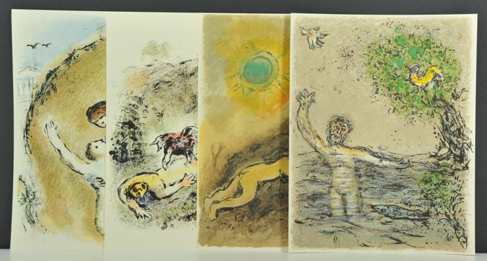 4 Marc Chagall Lithographs from `Odyssey`