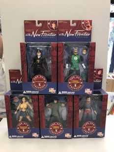 Collection Of DC Comics Action Figures - The New Frontier Series 1 - DC Direct - x5 - (2006)