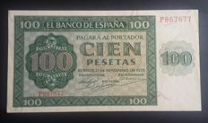 Spain - 100 pesetas from 1936, series P T677 - Pick 101a