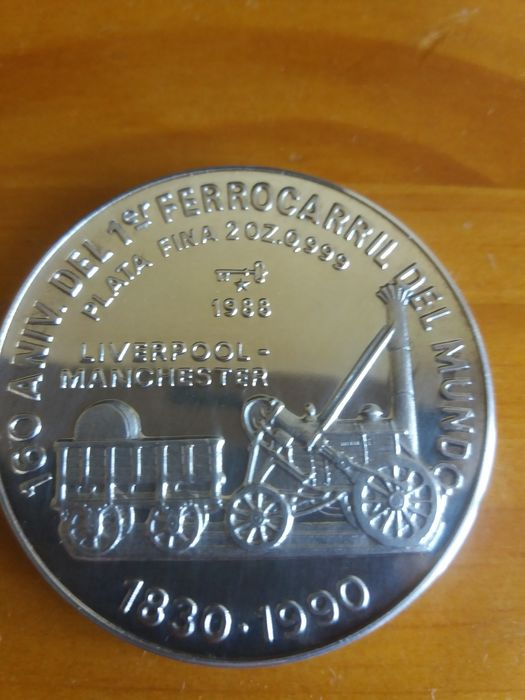 Cuba - 20 Pesos 1988 '160th Anniversary of the first Tram' - 2 oz silver.
