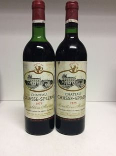 1975 Chateau Chasse-Spleen, Moulis-en-Medoc, France - 2 bottles 0,75l