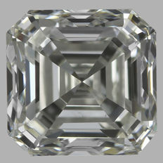 Asscher  Brilliant  1.01ct  H VS2 - EGL USA WITH UGS APPRAISAL -original image-10X serial#534