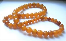 Vintage orange butterscotch Baltic Amber necklace, 69 gram