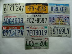 USA State License Plates  30 x 15 cm