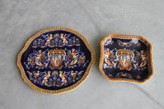 Gien - Two plates in Renaissance style