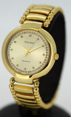 Galaxy - Vintage ladies gold plated quartz Swiss made wristwatch