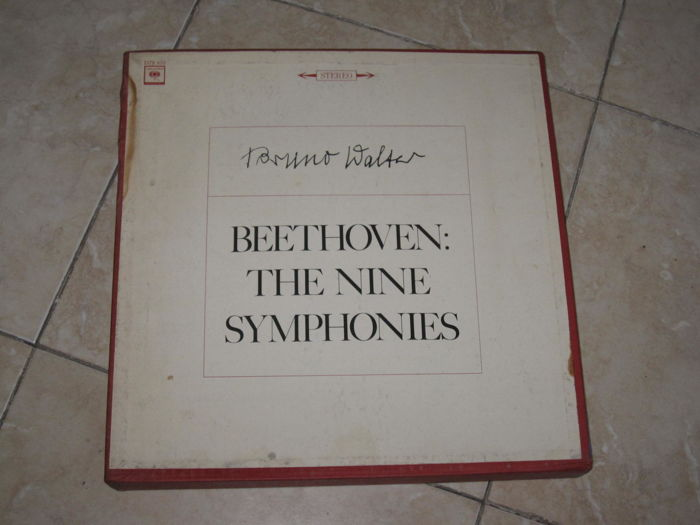 Classical music; Beethoven - The Nine Symphonies  (Complete) - Bruno Walter - Columbia 7 LPs BOX