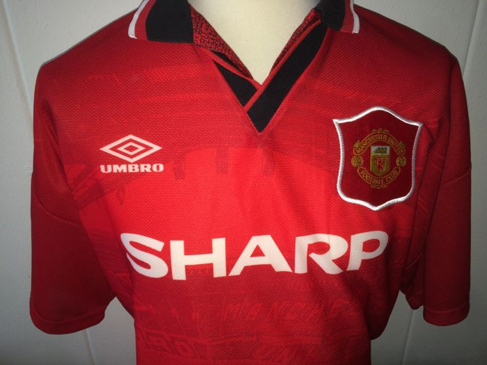 24cbed3c5cd Eric Cantona - Original signed Manchester United home shirt 1994 1996 + COA  inc Photoproof.