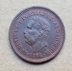 Portuguese India – Eighth of a Tanga 1884 – D. Luís I – Superior Condition