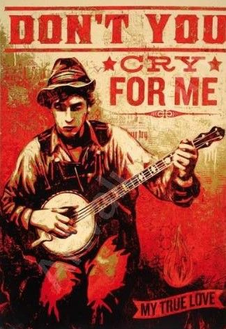 Shepard Fairey (OBEY) - Don't You Cry For Me - Oh Susanna