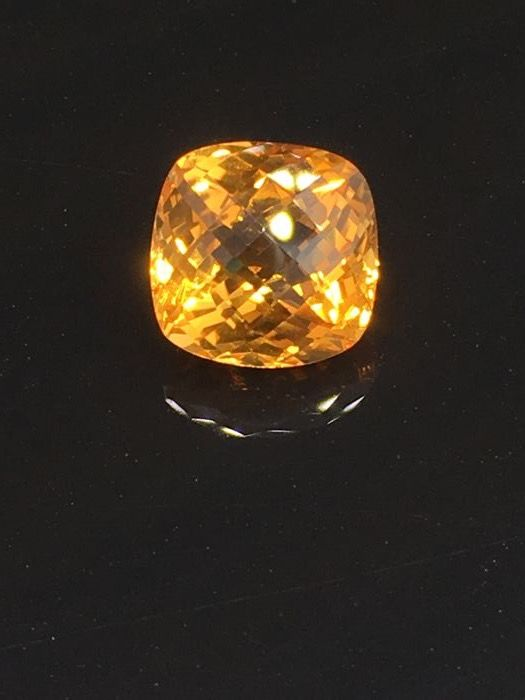 Citrine - Vivid Orangy Yellow - 8.98 ct