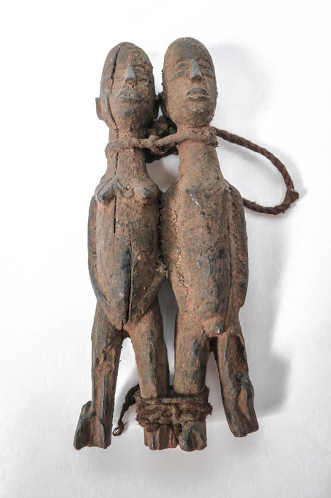 Old Bateba Divination couple fetish - LOBI - Burkina Faso