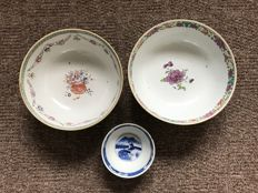 Three Antique Bowls - China - late 18th and 19th Century