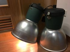 Made in Italy (unknown designer) – Pair of industrial lights, ready to use