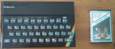 Sinclair ZX Spectrum home computer with a memory of 48K Ram , with expansion system kit,  produced in 1982