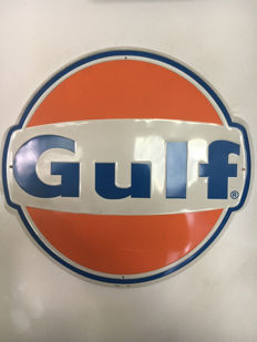 Gulf sign , very big and nice , embossed