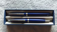 Set of Rotring Freeway pens FP M + BP blue with original case
