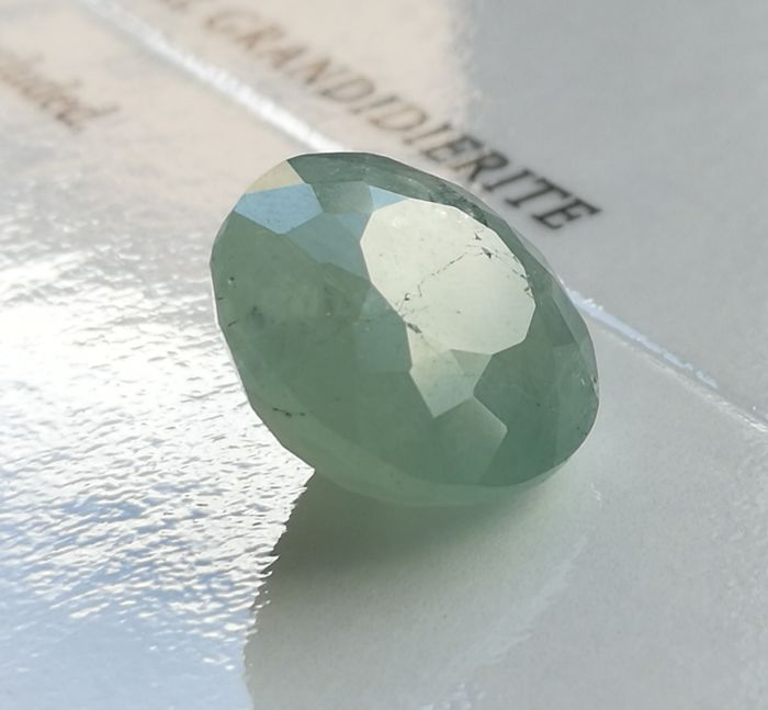 Grandidierite - green/grey - 9.70 ct