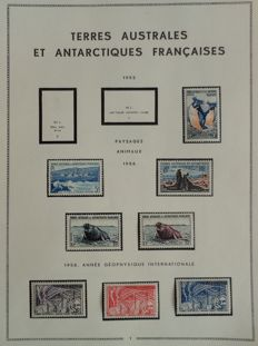 Former French Colonies 1955/1973 - Collection of French Southern and Antarctic Lands with good values