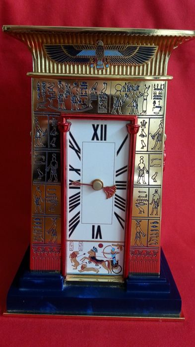 "Franklin Mint ""the clock of the pharaoh"""