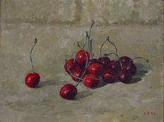Carolyn Sergeant (1937-) - Cherries